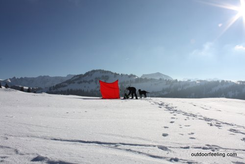 Hilleberg Windsack im Alpsteingebiet