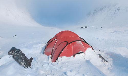 Hilleberg Saitaris im Schnee