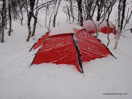 hilleberg Allak im Schnee
